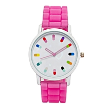 Virtual Pink Rubber Strap Ladies Watch..
