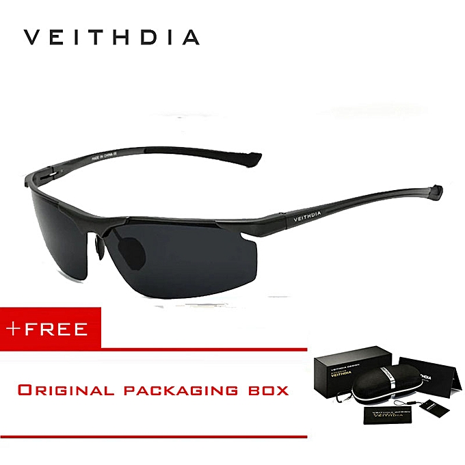 e9fc4d79535 VEITHDIA Aluminum Magnesium Mens Sunglasses Polarized Sports Blue Coating  Mirror Driving Sun Glasses Eyewear Accessories For