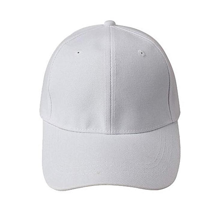 Generic White Plain Baseball Golf Cap   Best Price  13e6bd99f76a