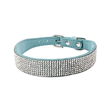 Bling Dog Collar Sparkly Rhinestone Studded Small Medium Dog Adjustable Collar