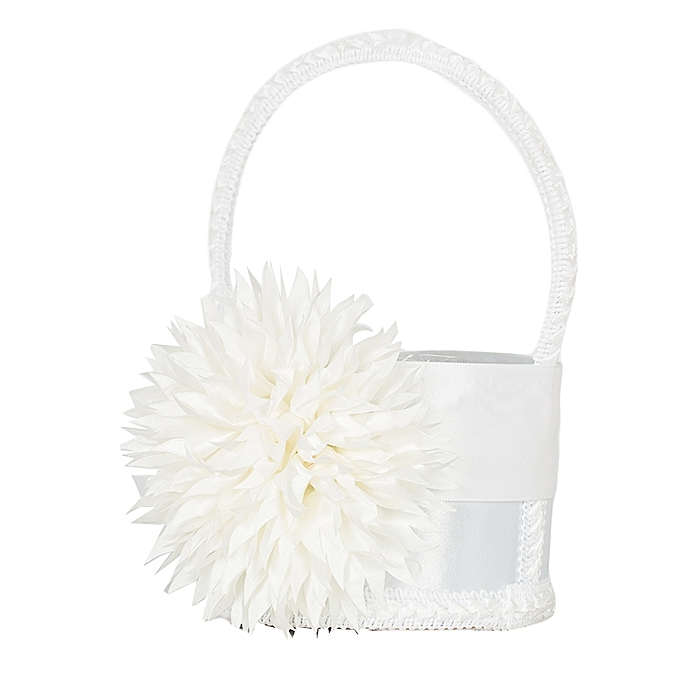 Buy generic white flower and ribbon decoration on white flower girls white flower and ribbon decoration on white flower girls basket mightylinksfo
