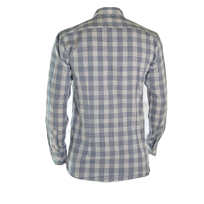 fec9e308a1947 Fashion Grey And White Square Checked Shirt @ Best Price Online ...