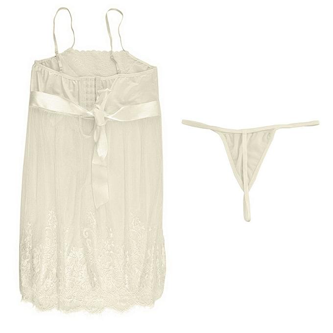 8a2c682dde Women Sleepwear Seductive Lingerie Pretty Perspective Lace Suit Gallus Top