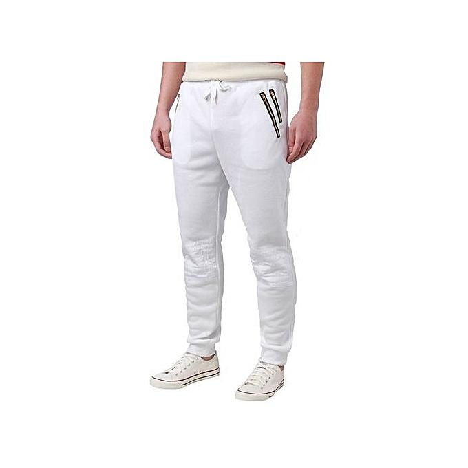 8a51723cf5c4f Men Sweats Casual Jogger Dance Sport Baggy Harem Pants Trousers Sweatpants  (White)