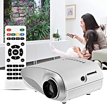 Mini Projector 1080P Mini Multimedia Home Theater Video LED Projector w/ AV/USB/VGA/HDMI/SD Slot White