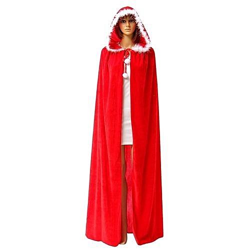 christmas halloween cape cloak hoodies capes santa claus coat cosplay fancy party santa claus wicca velvet