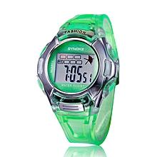 Kids Sports Digital LED Watches Wrist Watch Alarm Date Rubber Wrist GN