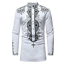 Royle Shirts Dashiki Men Shirts - White
