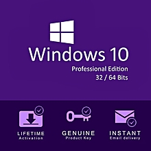 WINDOWS 10 PROFESSIONAL OS/ 64 & 32 Bit/ Activation Key Only