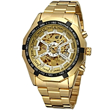 Forsining Watch Men Fashion Relogio Masculino Automatic Mechanical Gold Skeleton Vintage Watch 2018 Mens Watch Top Brand Luxury F120509 WWD
