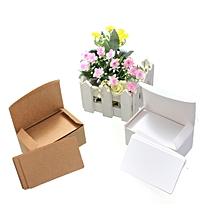 Fashion Blank Kraft Paper Gift Tags Wedding Scallop Price Label Luggage 100 Pcs