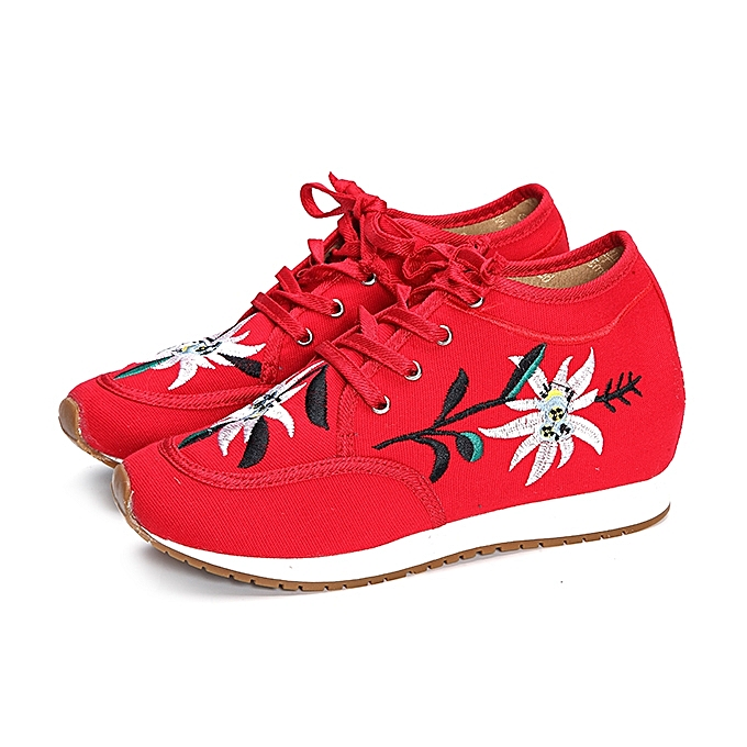 Fashion Chinese Embroidered Lace Up Casual Round Toe Shoes   Best ... d338d4dd8f92