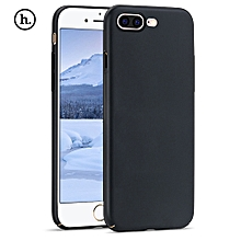 Close Skin Design Solid Color PC Protective Case For IPhone 7 Plus - Black