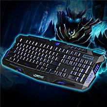 LED Backlight Russian Keyboard Wired Backlit Keyboard Computer Gaming Keyboard USB Powered For LOL PC Laptop