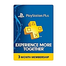 Playstation Plus 3 Month Membership Subscription Card - US PSN CARD