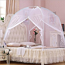 ( Mosquito Net)White Portable Folding Mosquito Net Tent Freestand Bed Twin Queen King