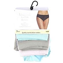 Ladies Cotton Briefs 3 Pack