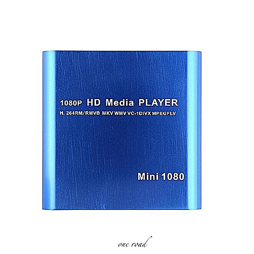 Us Mini 1080P Full Hd Media Player With Mkv/Rm/Usb Hdd Hdmi Function Blue