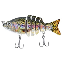 PROBEROS 9CM 6 Part Fresh Water Weever Shape Crankbait Hook Fishing Bait For Outdoor Activity-COLORMIX
