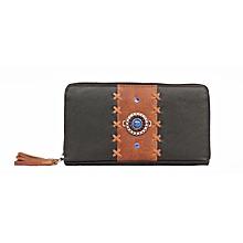 Beady Lady leather purse- black