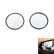 Car Blind Spot Rear View Wide Angle Mirror, Diameter: 5.3cm(Black)