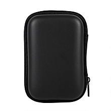 Portable Mini Storage Bag Organizer Case For Earphone (Black)