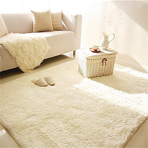 Green Source · 2PCS Shaggy Anti skid Carpets Fluffy Rugs Floor Yoga Bedroom .