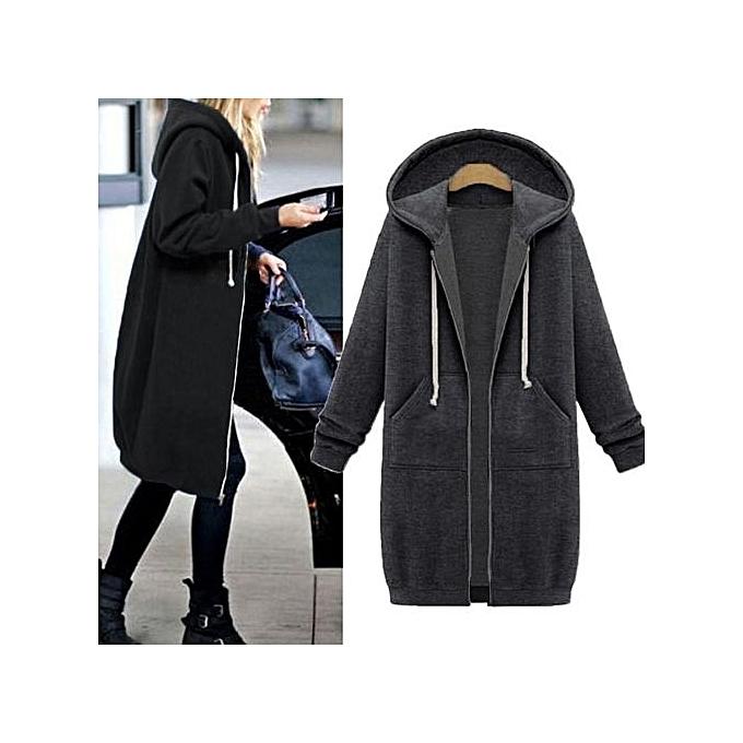 44d1e4085 ZANZEA ZANZEA Winter Coats Jacket Women Long Hooded Sweatshirts Coat ...