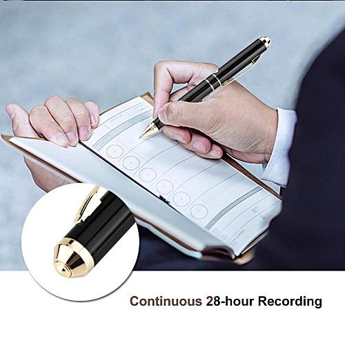 SK-068 Voice Recorder Pen 8GB Memory & 64GB TF Card Pen Shape Digital Voice Recorder 28-hour Recording Voice Recorder Pen