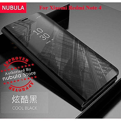 quality design 8d220 5e6ea NUBULA For Xiaomi Redmi Note 4 Flip Case,360 Degree Luxury Mirror Clamshell  Hard Shell Case Smart Clear View Flip Cover For Xiaomi Redmi Note 4 598535  ...