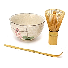 4 Style Matcha Set Bamboo Matcha Whisk+Chashaku Tea Scoop+Matcha Ceramic Bowl