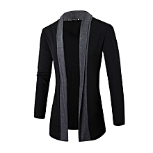 Men Casual Cardigan Sweaters Coat - Deep Grey