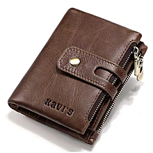 Elegant Genuine Leather Coin Purse Male Wallet