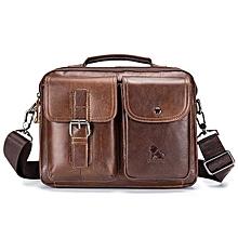 Mens Leather Messenger Bag Retro Laptop Bag Business Briefcase Shoulder Bag