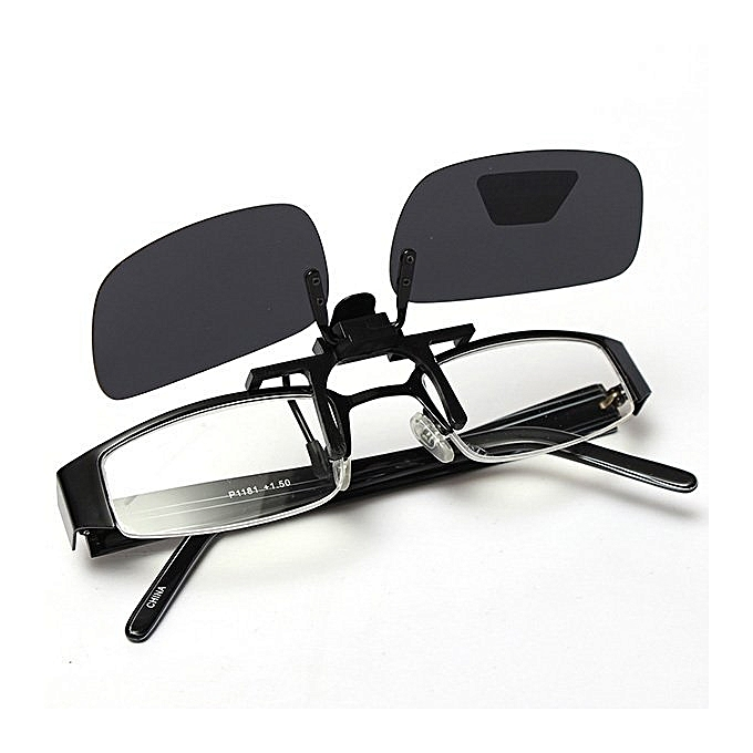 33c45cf41911af ... New Gray Grey Lenses Polarized Sunglasses Clip On Flip Up Uv 400  Driving Glasses ...