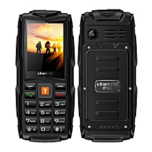 Vkworld New Stone V3 IP68 3000mAh 2.4 Inch 3 SIM Cards 2MP Waterproof Outdooors Mobile Phone Black