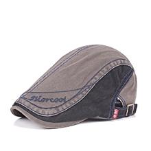 Unisex Cotton Embroidery Washed Beret Hat Duckbill Golf Visor Buckle Cabbie Cap For Men Women