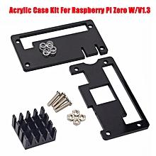 Black Acrylic Case + Aluminum Heat Sink For Raspberry Pi Zero W/V1.3