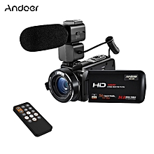 "HDV-Z20 1080P Full HD 24MP WiFi Digital Video Camera Camcorder with External Microphone 3.0"" Rotatable LCD Touchscreen Remote Control Support LED Lamp 16X Digital Zoom"