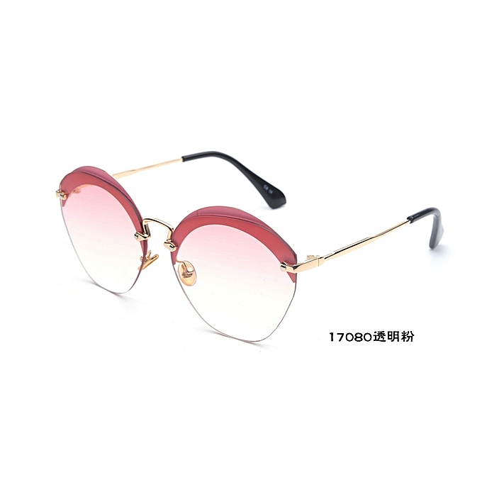 c1e894a8b109 Fashion Cat Eye Mirrored Flat Lens Metal Frame Women Sunglasses