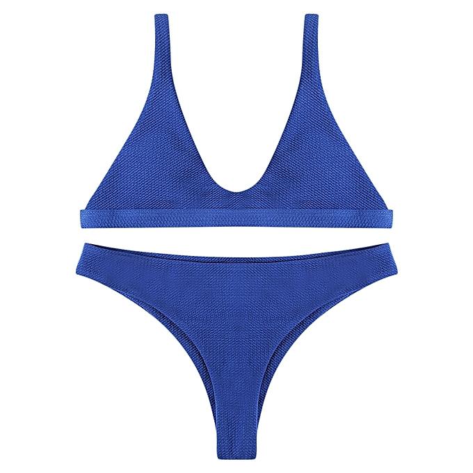 6dd740306a Fashion Leadsmart Women Solid Bikini Set Push Up Padded Bras Swimwear  Swimming Suit