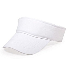 2016 Cotton Empty Top Hat Children Kids Solid Sun Hat Visor Hat Free Customized Wholesale And Retail Group Advertising Cap(White)