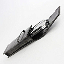 2 PCS Fountain Pen Black And Silver With Nice Pen Case