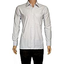 Purple Pin Striped Casual Shirt