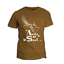 Awake My Soul Brown  Printed T-Shirt Design