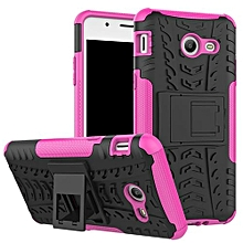 "For Galaxy [J5 2017 US Type] Case, Hard PC+Soft TPU Shockproof Tough Dual Layer Cover Shell For 5.2"" Samsung J520 J527, Rose"