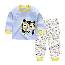 Baby Boy's Clothing Set Tops+Pants (Light Blue)