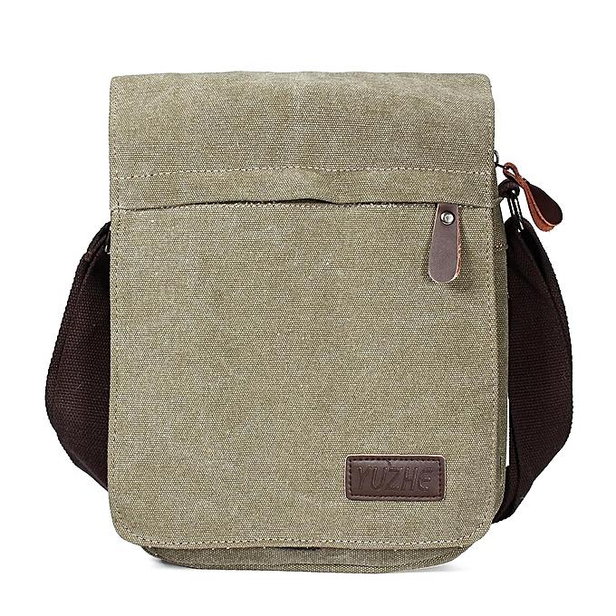 9b37eb70b8ab Canvas Men Messenger Bags Canvas Crossbody Shoulder Bag Casual Vintage Flap