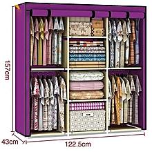 Modern Portable 3-Column Wardrobes-Purple