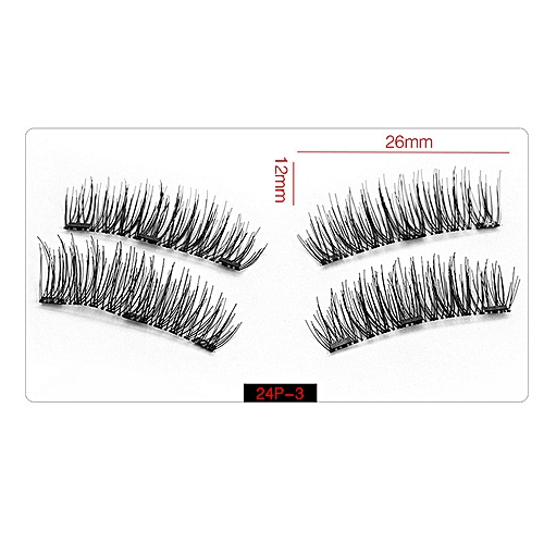 bd6df433f67 Generic 4pcs/pairs Magnetic False Eyelashes 3D Magnet Lashes Soft Long Magnet  Eyelashes On The Magnet Natural Fake Eyelashes Extensions(24P-3)